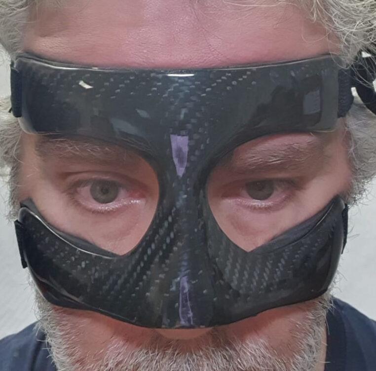 maschera protettiva setto nasale carbonio