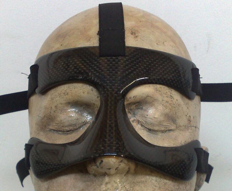 Maschera protettiva setto nasale a 5 fasce in carbonio