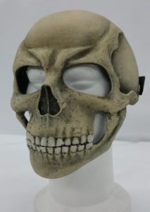 Skull bone death's head helmet resin wearable